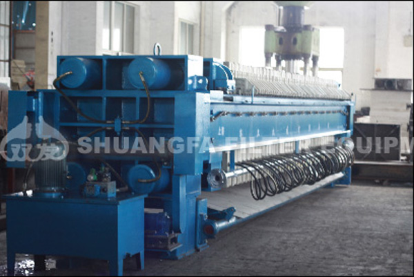 High working efficiency membrane filter press machine