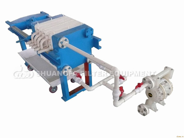 Manual filter press machine with dDiaphragm pump