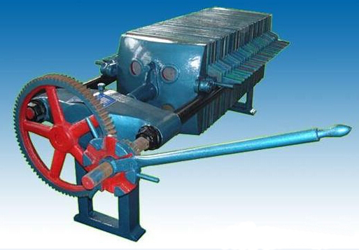 Manual jack filter press machine