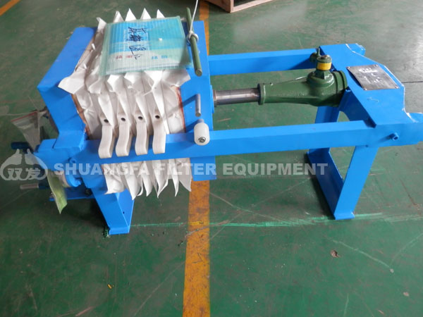 Small manual filter press machine